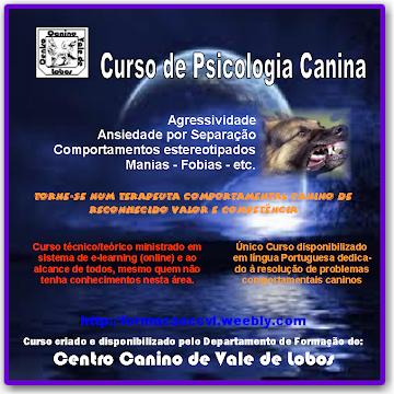"""Curso de """"Psicologia Canina"""" (Curso on-line)"""