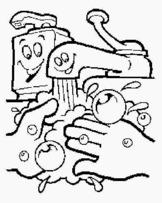 cdc handwashing coloring pages - photo#12