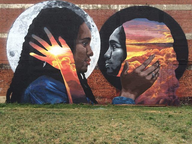 Our friend LNY, also know as Lunar New Year, recently completed this massive wall in Newark, New Jersey.