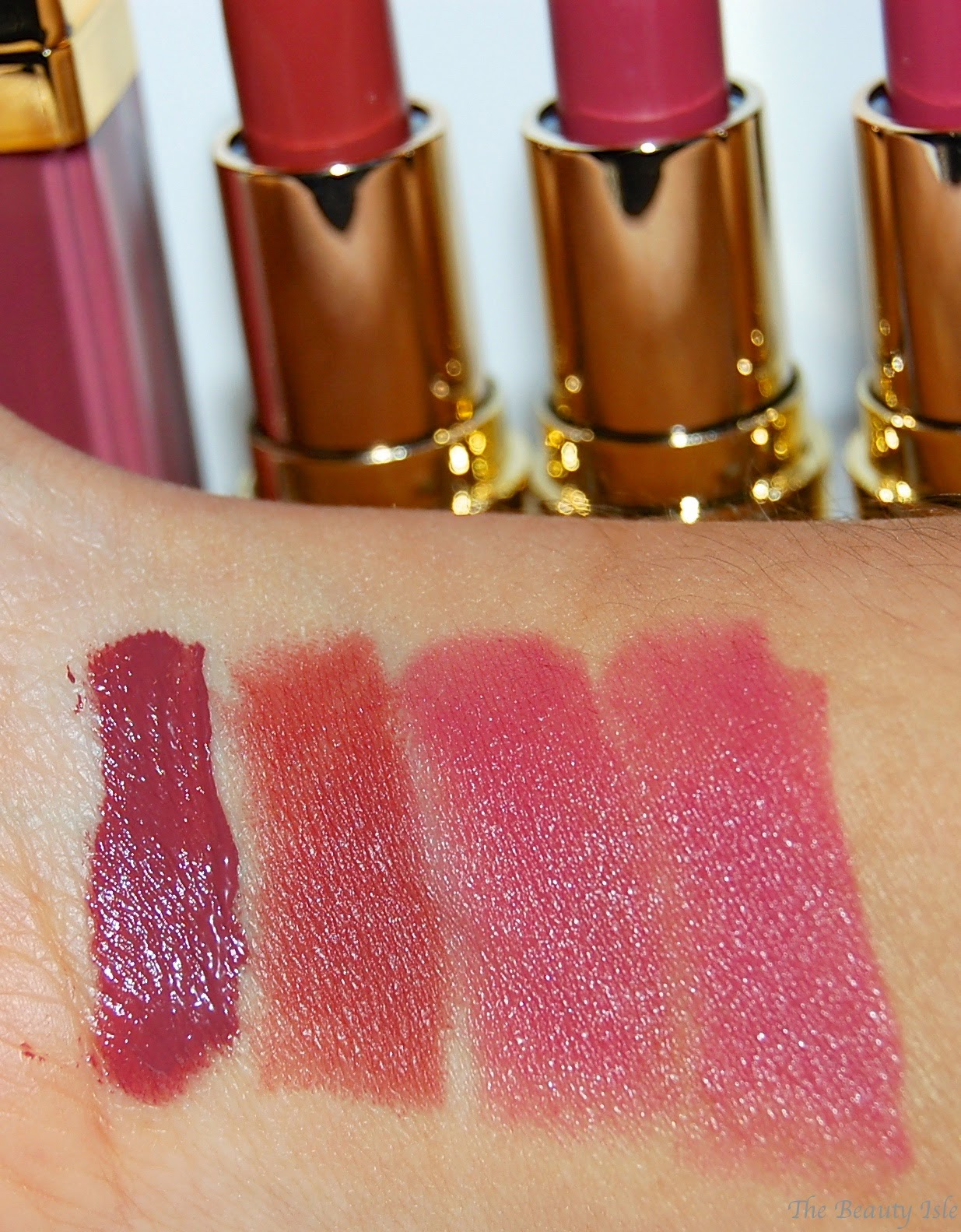 Gerard Cosmetics Lipgloss and Lipstick Swatch