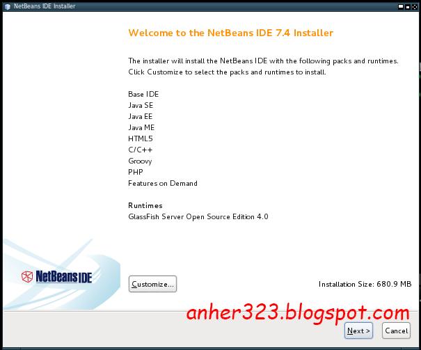 NetBeans IDE di KALI LINUX