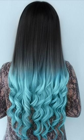 gambar warna rambut ombre kombinasi