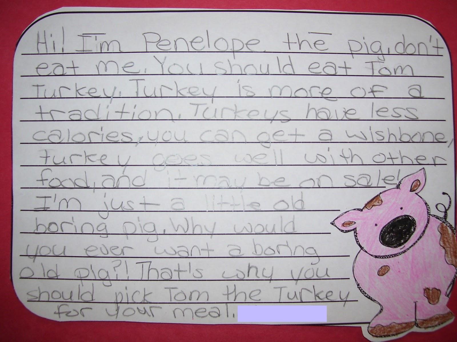 Writing about turkey