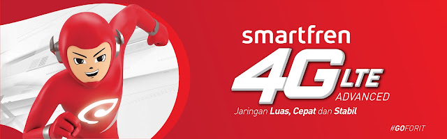 Smartfren 4G LTE Advanced Go for It Jaringan cepat, luas, dan stabil