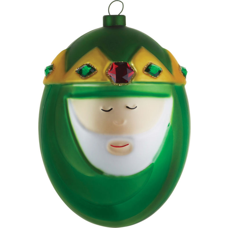 alessi nativity christmas ornaments in blown glass