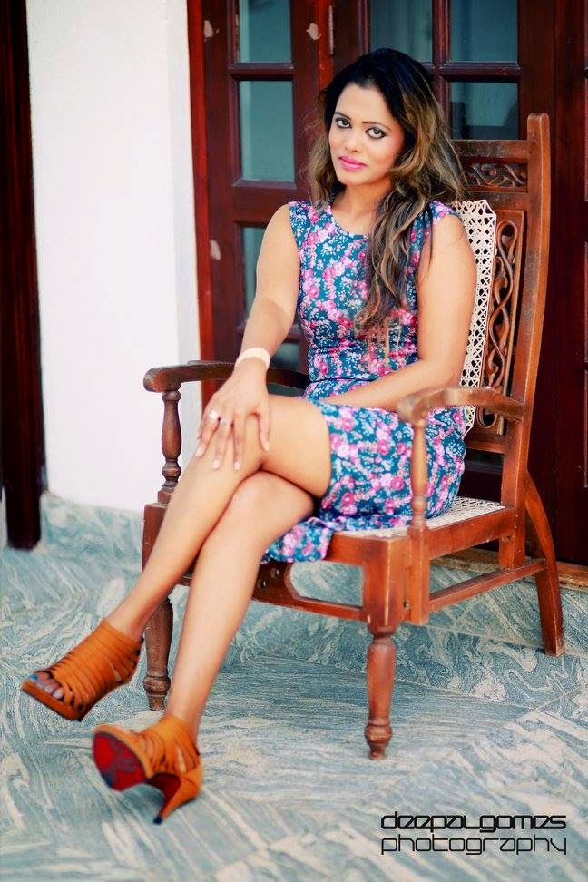 Chandi Anupama crossed legs