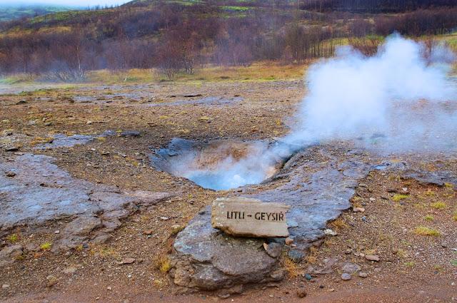 the golden circle tour, iceland,geysir,geyser, travel, travelling,wisata,litle geysir, litli geysir