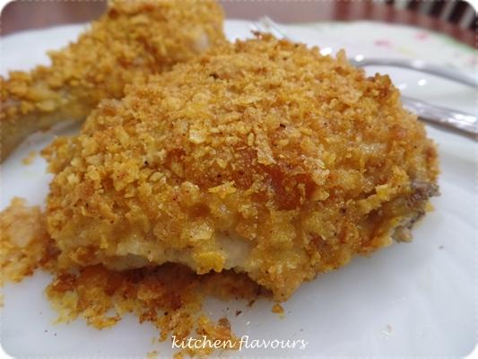 kitchen flavours: Honey-Crisp Oven-Fried Chicken