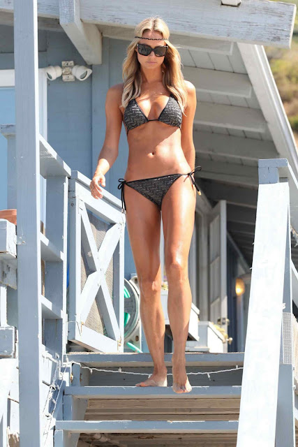 Stacy Keibler – Bikini Photoshoot Candids in Malibu