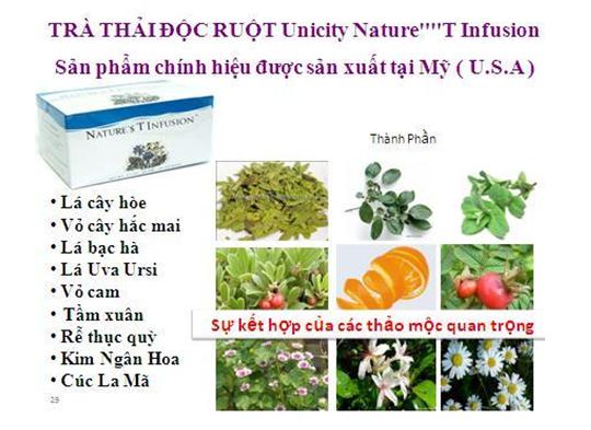 Trà thảo dược làm sạch đường ruột, giải độc tiêu hóa
