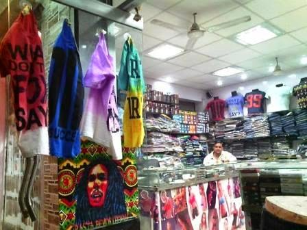 "Shop View. Readymade Garments For Young Men at Wholesale and Retail in Suburban West Delhi - Rock Collection in Sagarpur - Promotional Campaign by ""Kind Attention"". In city but deep, begin to step into mainstream fashion on a budget. Grab a lifestyle."