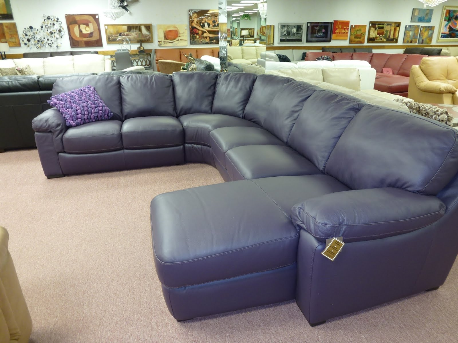 Purple Leather Sectional Sofa 1600 x 1200