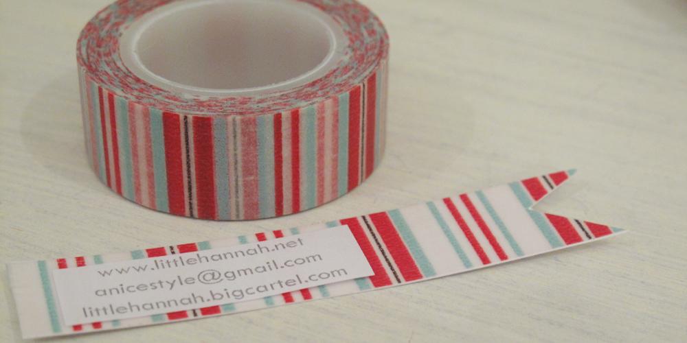 tarjta de visita con washi tape