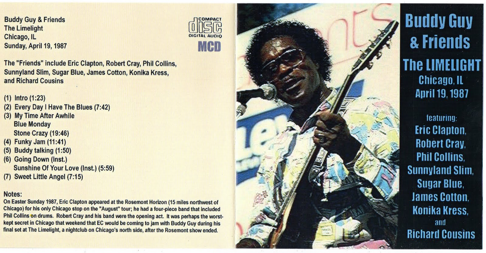 CastelarBlues: CD - Buddy Guy & Friends - The Limelight ...