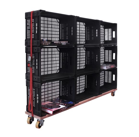 Madamemademoiselle reutiliza las cajas de fruta de pl stico for Muebles con cajas de fruta