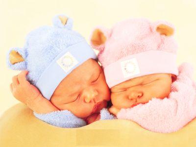 kız ve erkek bebek