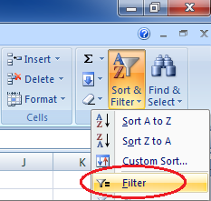 Fungsi filter excel