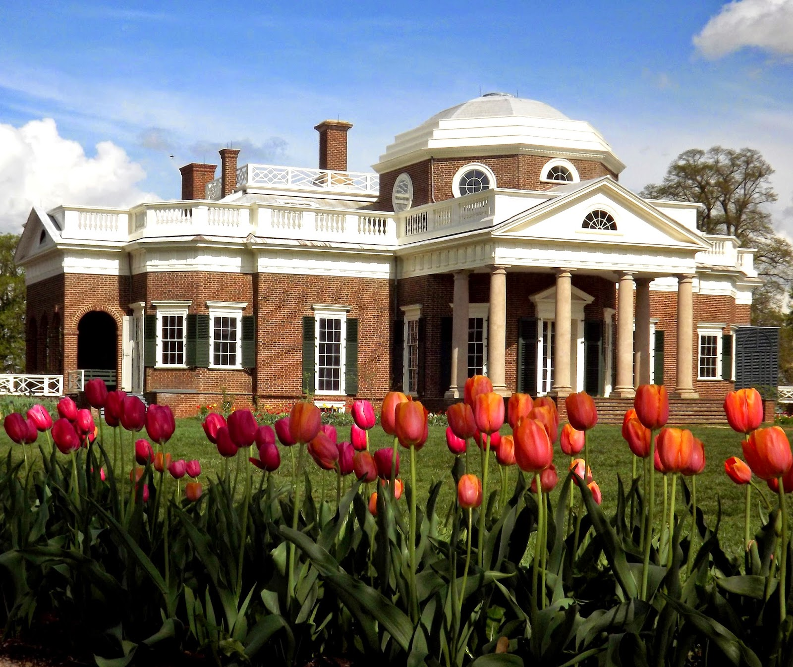 Monticello In The Spring During Virginia Garden Week