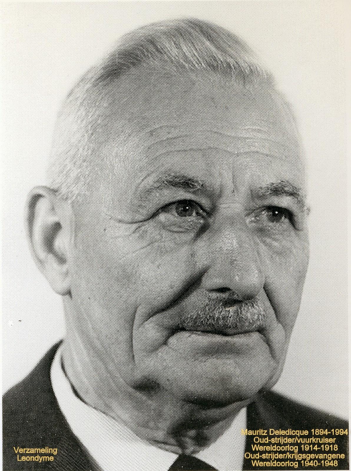 Bidprentje, Mauritz Deledicque 1894-1994.