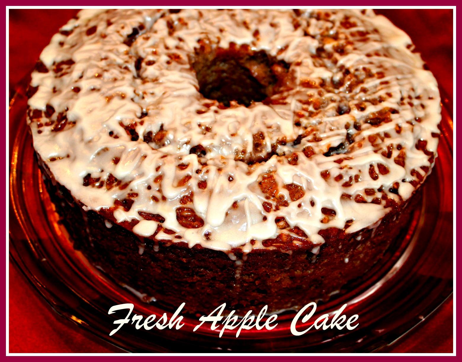 Sweet Tea And Cornbread Fresh Apple Cake With Warm Caramel Sauce