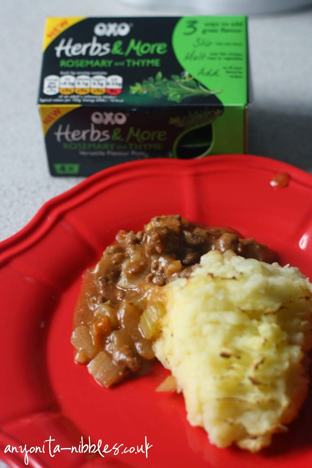 A serving of OXO's Kitchen Magician Cottage Pie from Anyonita-nibbles.co.uk