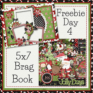 Jolly Days 5x7 Brag Book Freebie Day 4