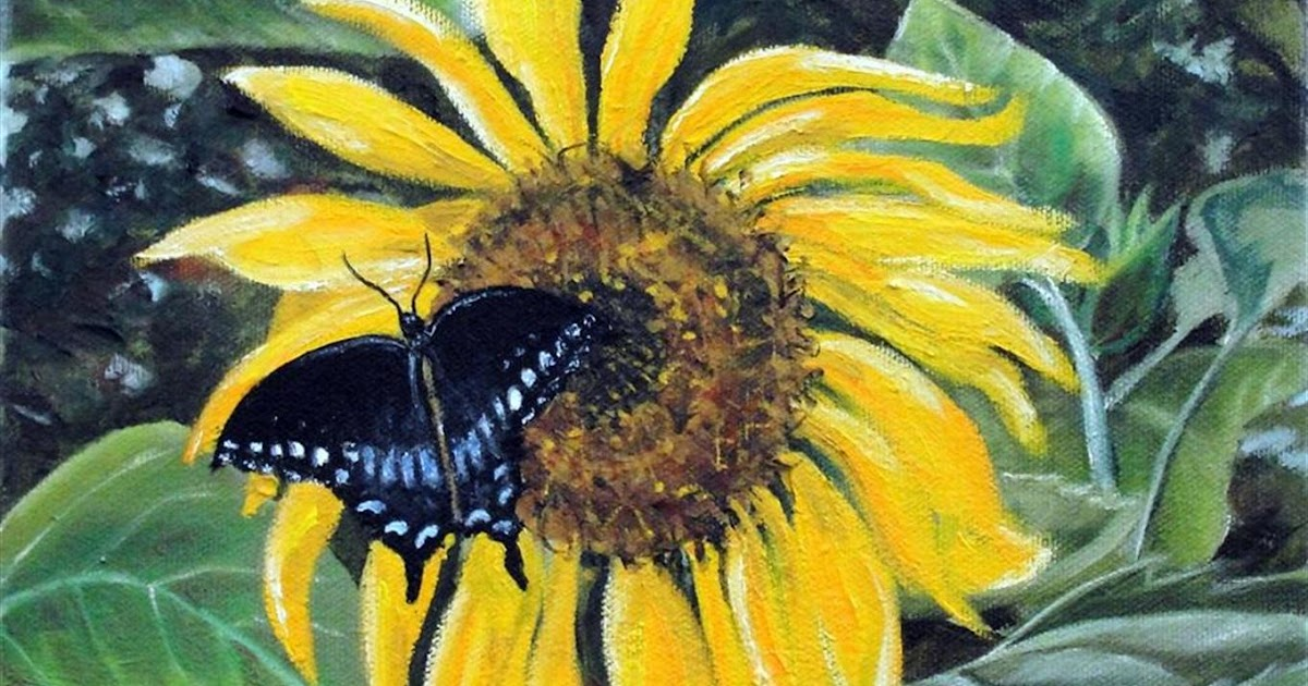 Word Weaver Art: Sunflower Swallowtail