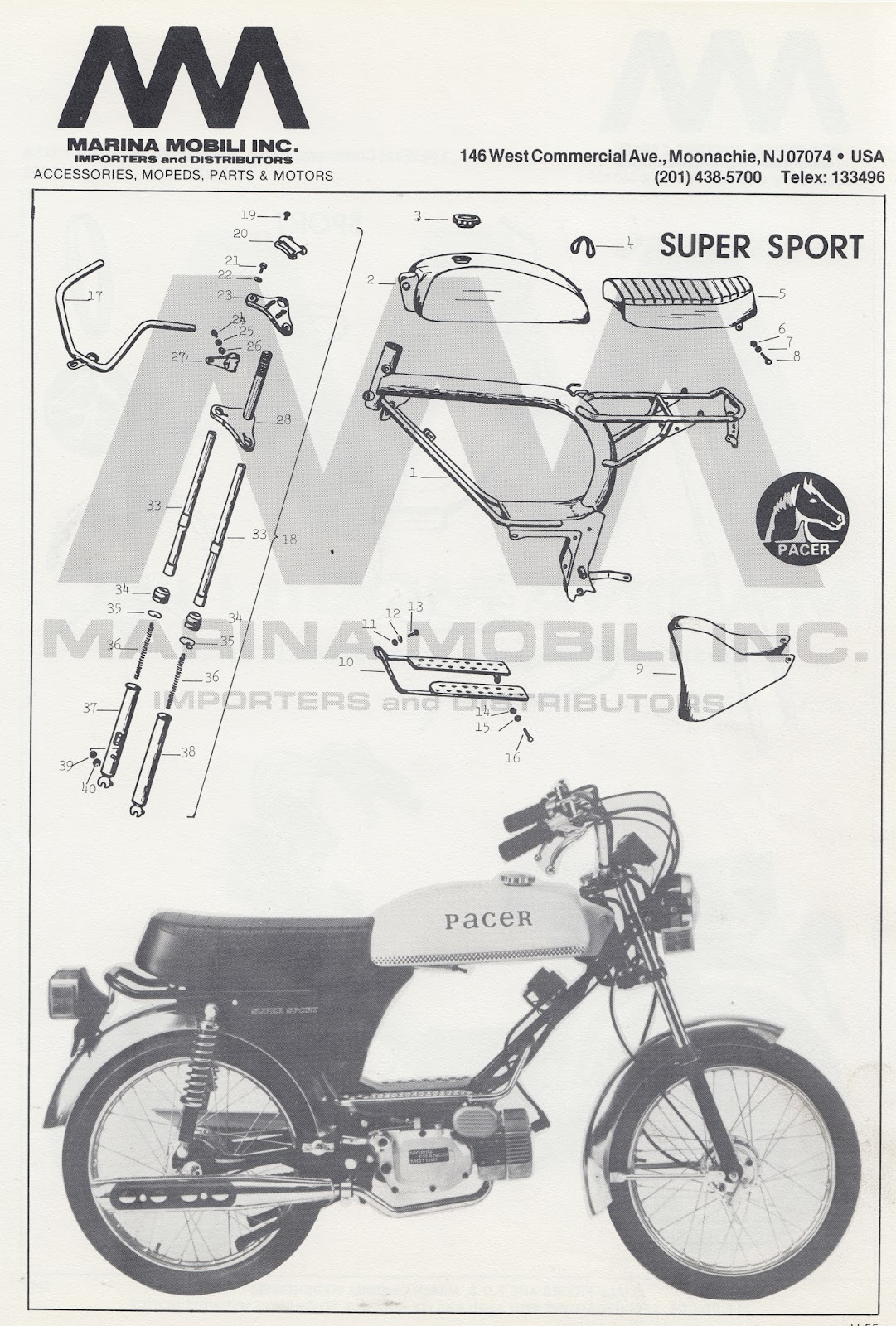 home alone with mopeds negrini and pacer dealer pictures hi res morini and v1 engine diagrams