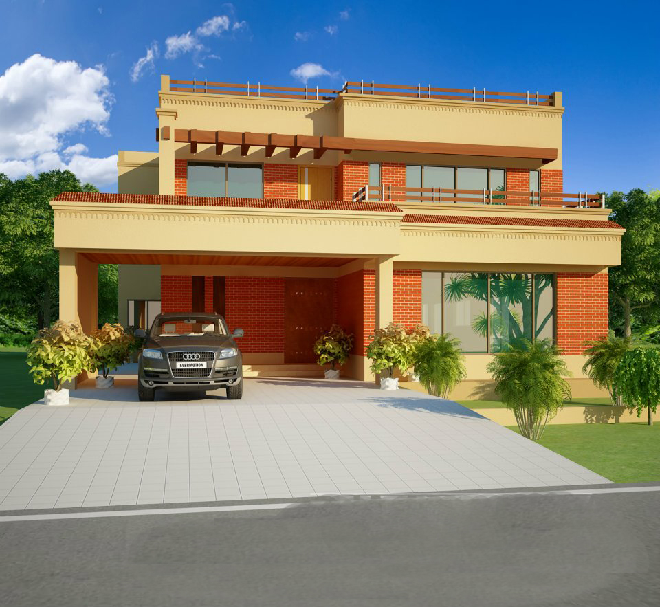 New home designs latest modern homes exterior designs ideas for Pakistani new home designs exterior views