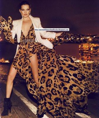 Love Animal Print: Celebrities in Animal Prints: Kate Moss