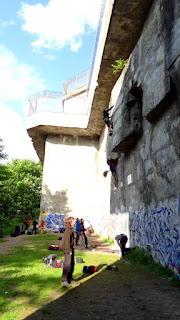 Climbing in Berlin - Klettern in Berlin - Volkspark Humboldthain