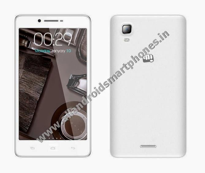 Micromax A102 Canvas Doodle 3 Android Phablet 3G Pristine White Color Front Back Side Images Photos  Review