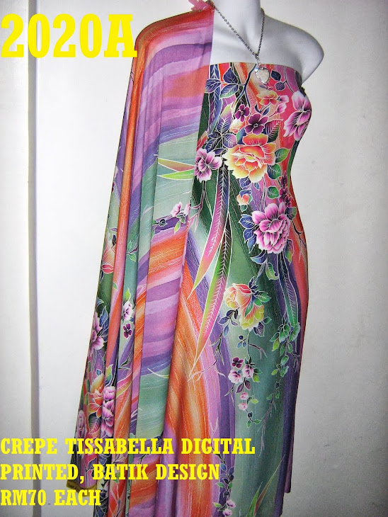 CTD 2020A: BATIK CREPE TISSABELLA DIGITAL PRINTED, EXCLUSIVE DESIGN, 4 METER
