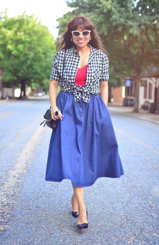 Black and white gingham shirt