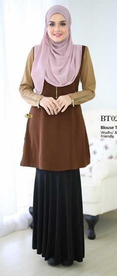 NBG010 TIHANNI BLOUSE III (WUDUK AND NURSING FRIENDLY)
