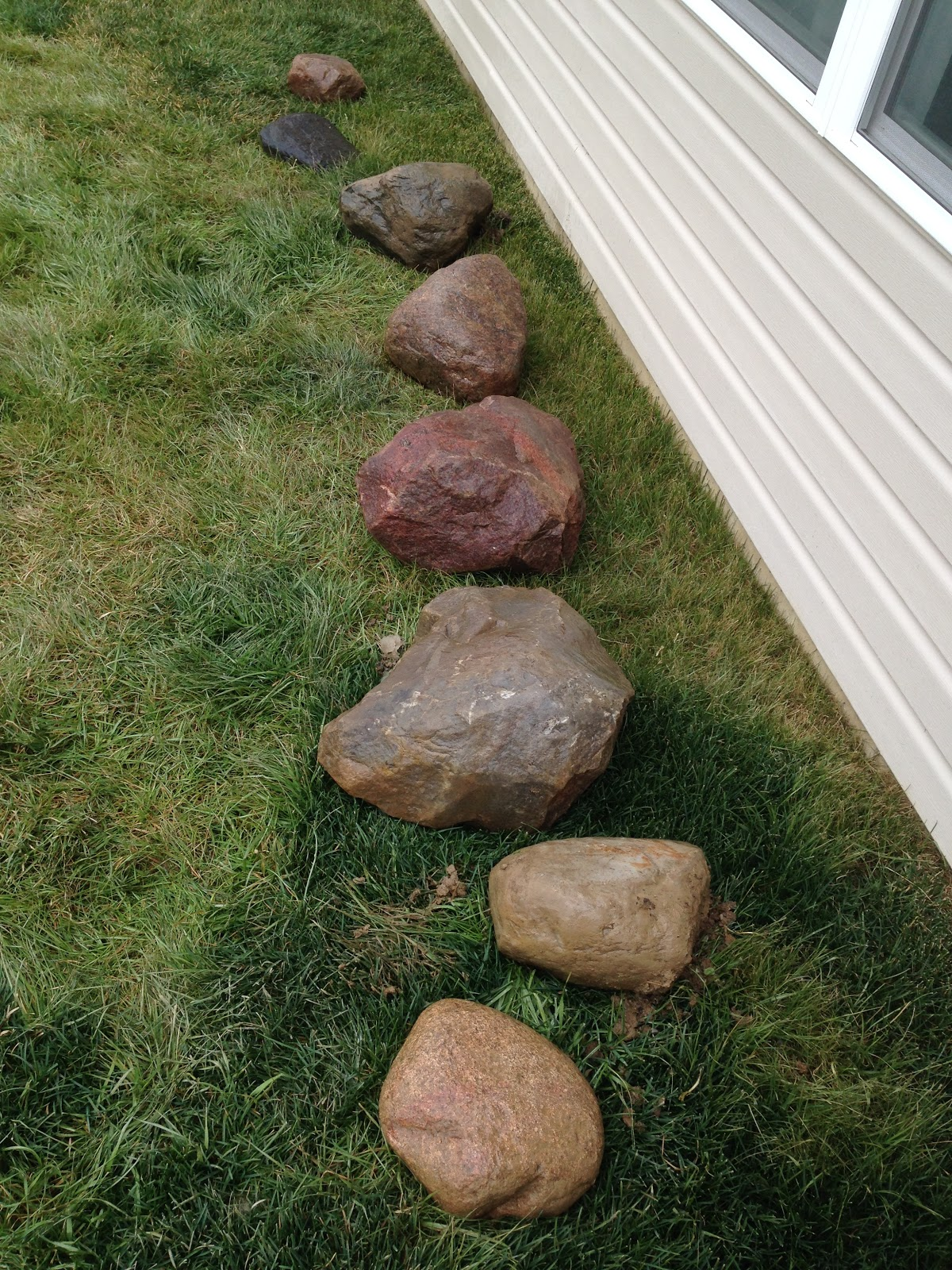 collection of landscaping rocks