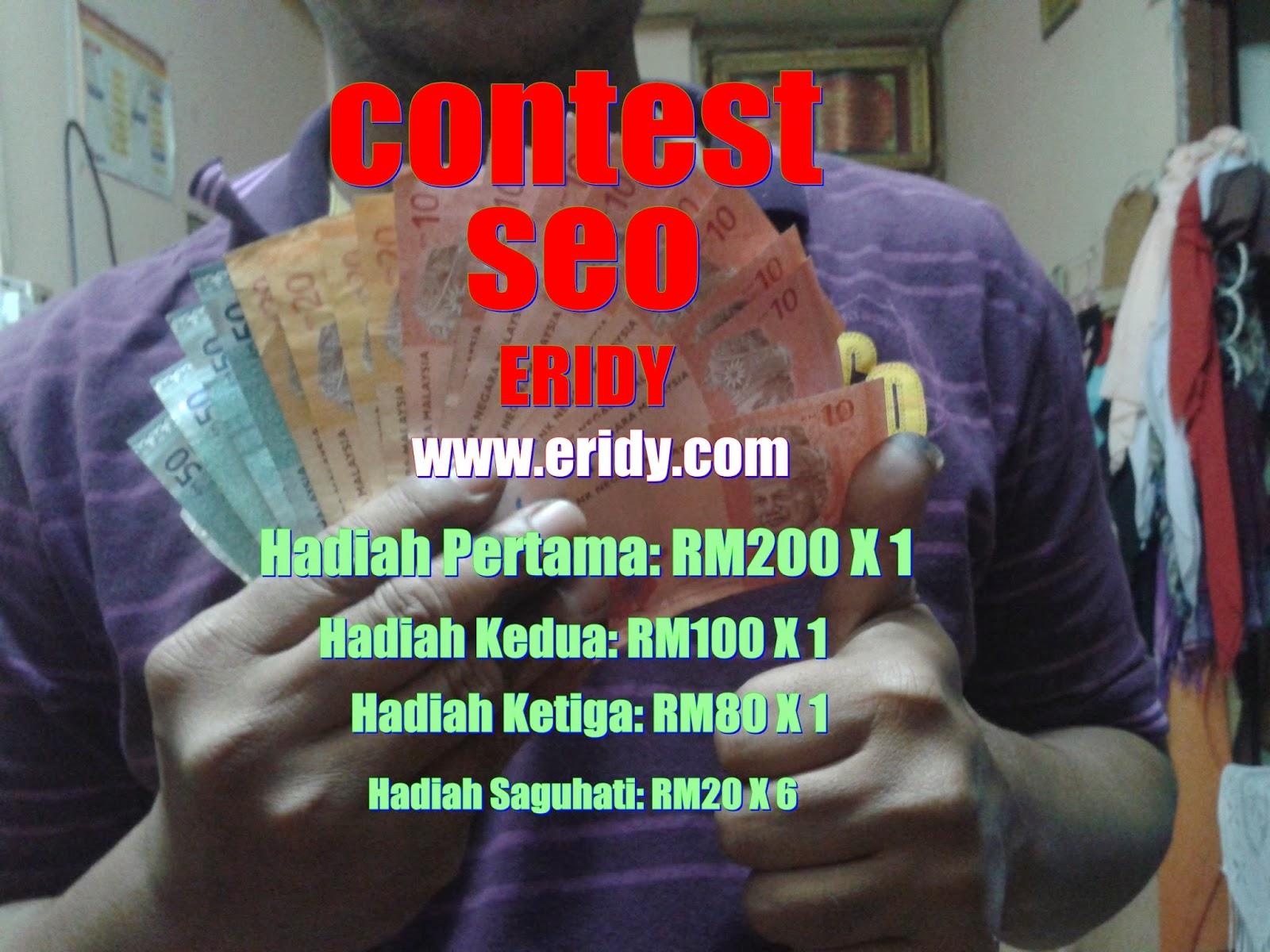 Contest Seo, anjuran Eridy, menang contest seo, teknik seo, tip seo, cara menang contest seo