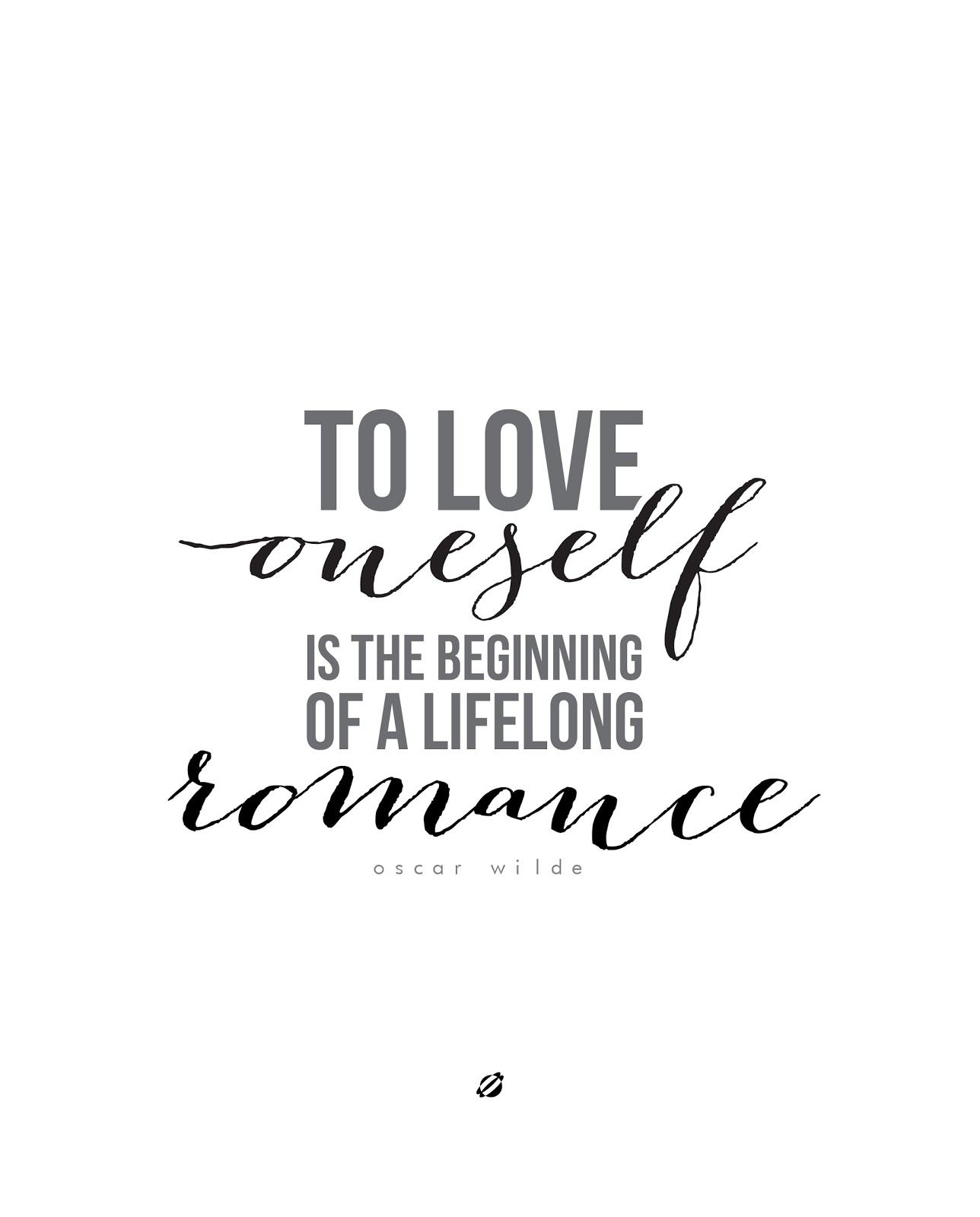 LostBumblebee 2013 Love Oneself Free Printable