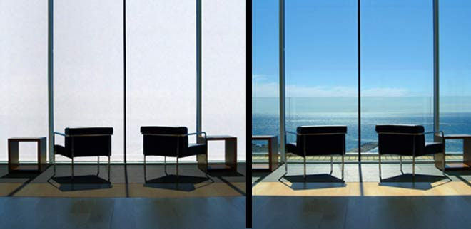 Clear Glass Windows : Gra zone gray switchable glass change from clear