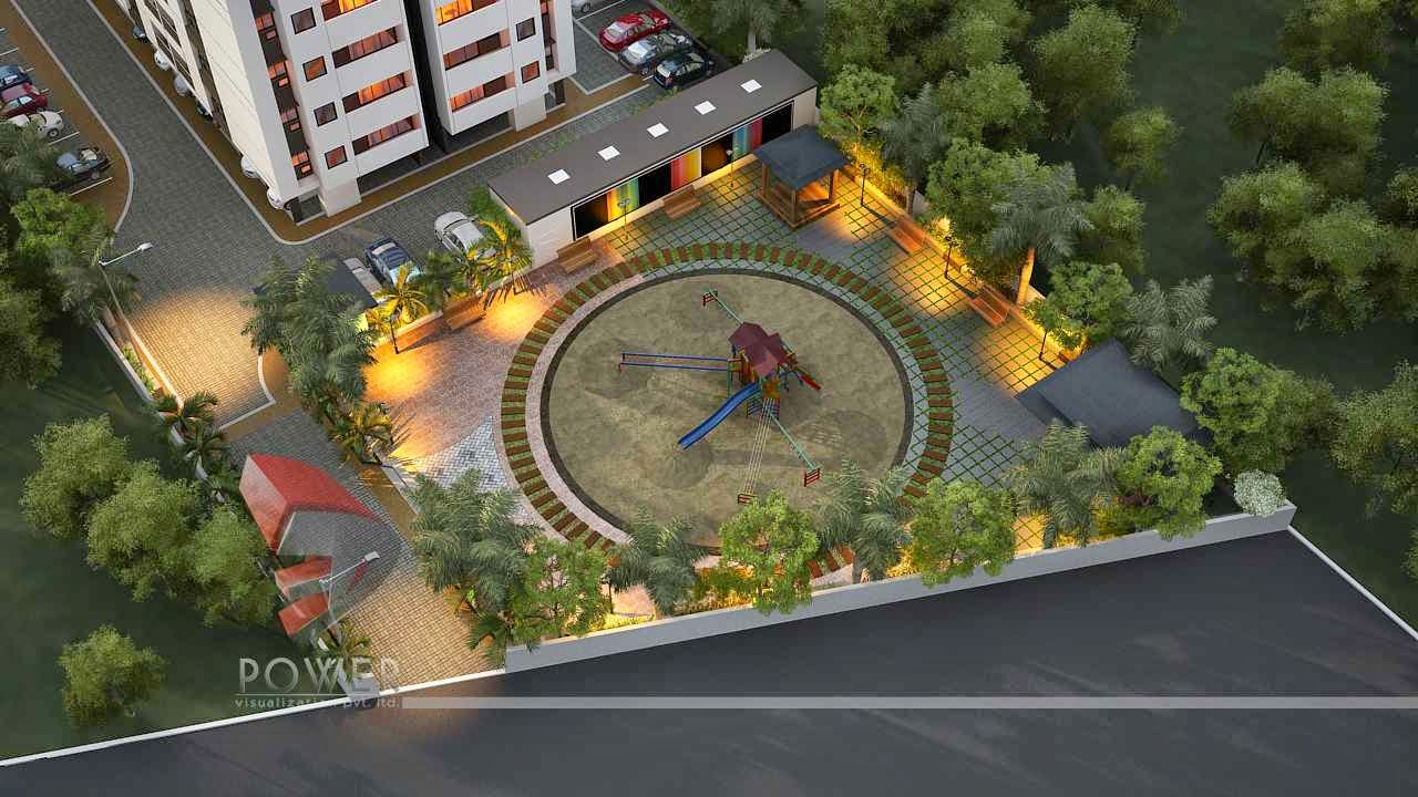 Township apartments design 3d rendering 3d township for Home design 3d outdoor garden 4 0 8