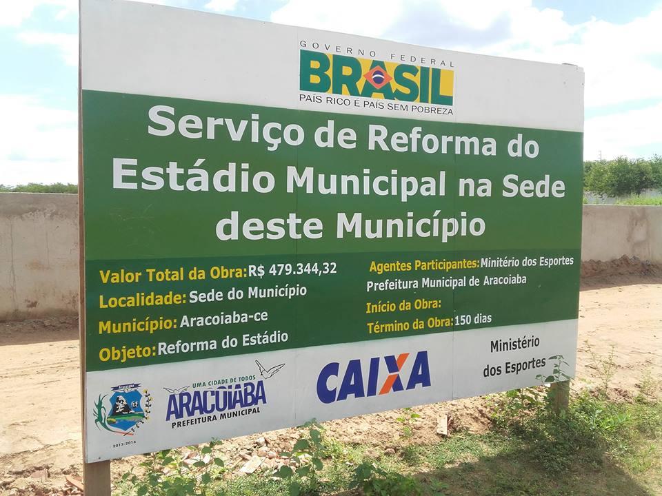 A reforma do Estádio Municipal de Aracoiaba nas lentes de Jorge Luiz