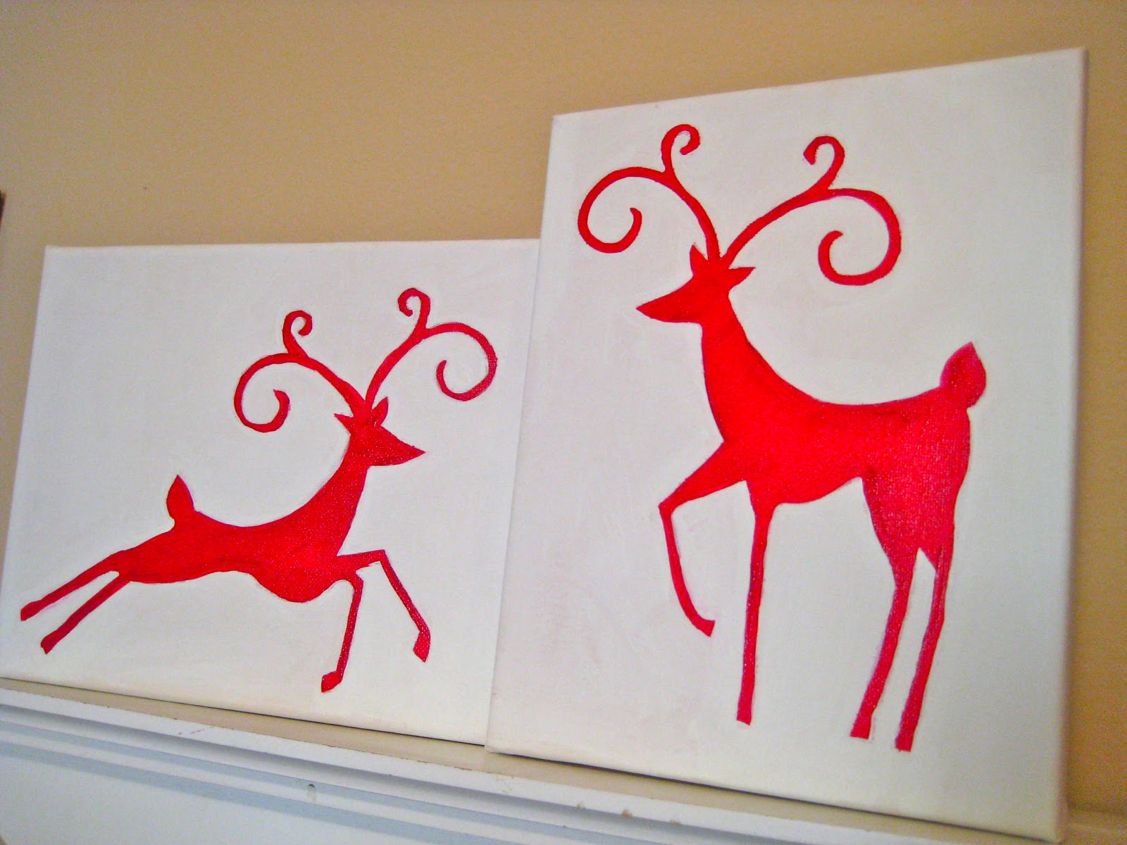Scrap making christmas canvas for Easy christmas paintings on canvas