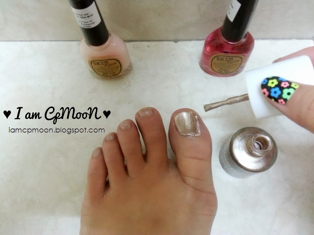 ♥ I am CpMooN ♥: Bronzey and Glittery Nails with bloop Nail Polish