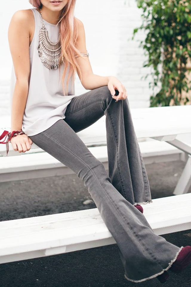 Flared jeans, wide leg jeans, spring trend, inspiration, street style