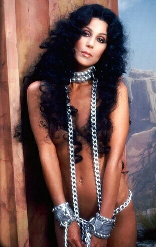 Semi-nude shot of Cher from 1979