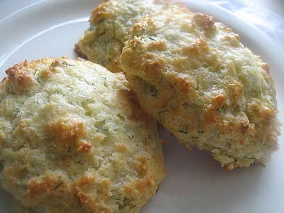 Cheddar Parmesan Scones with Dill   Lisa's Kitchen ...