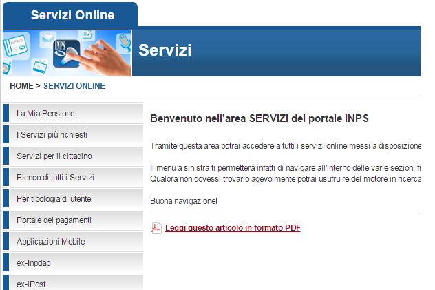 come chiedere all 39 inps l 39 autorizzazione anf On inps online servizi per il cittadino