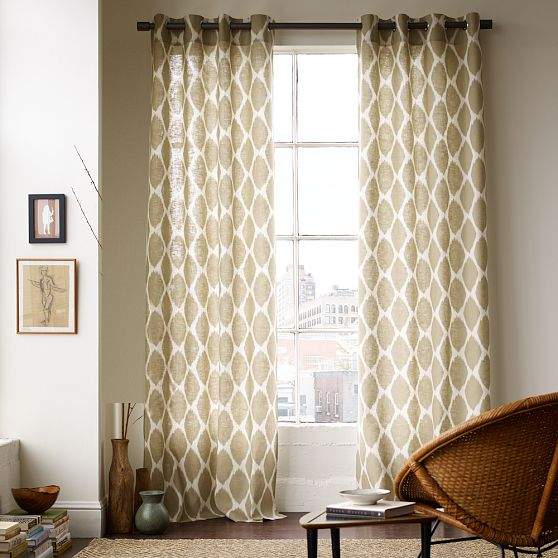 Pbjstories diy painted curtains for Diy curtain ideas for living room