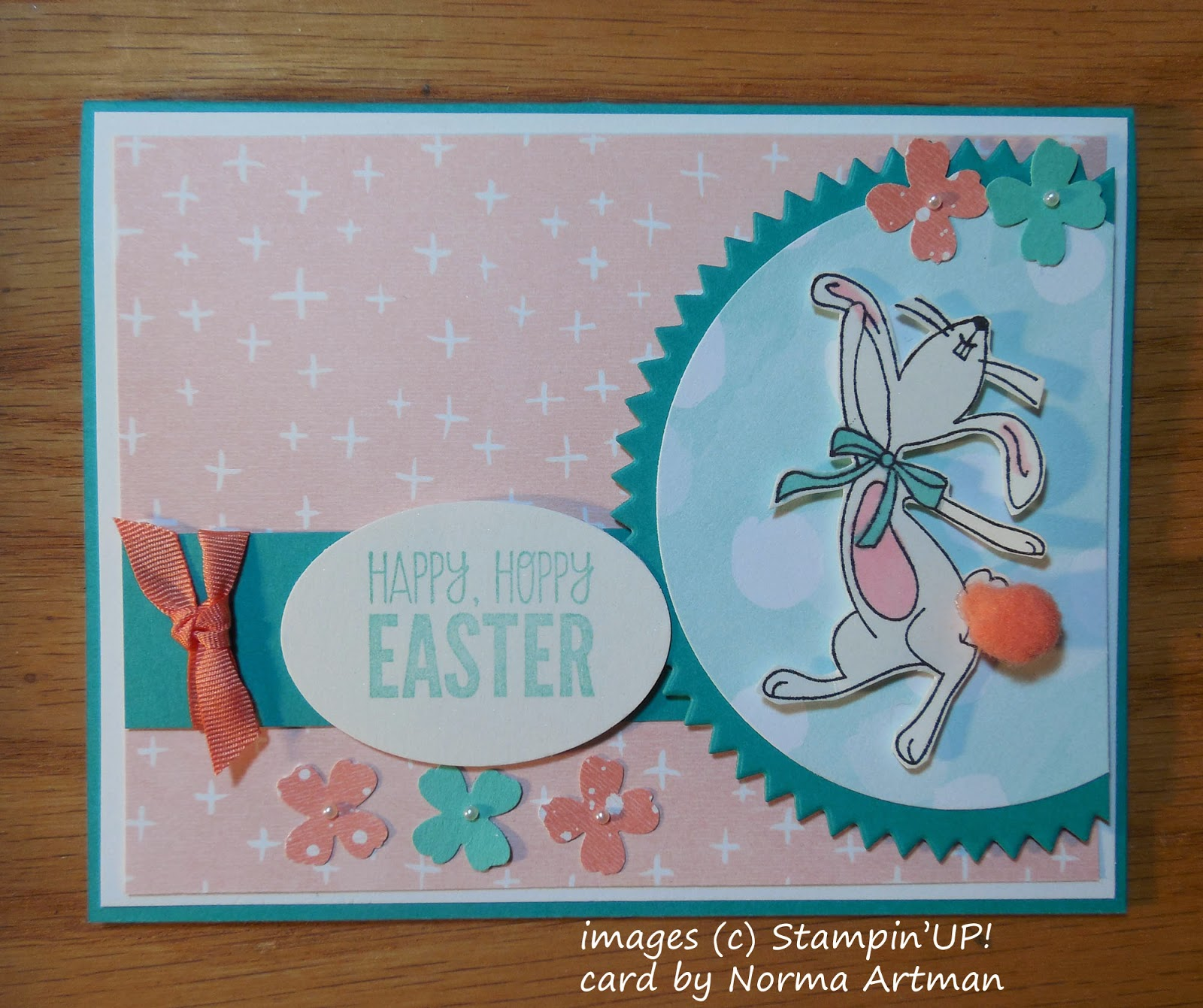 Easter Card made with Stampin'UP!'s Happy Easter Bunny