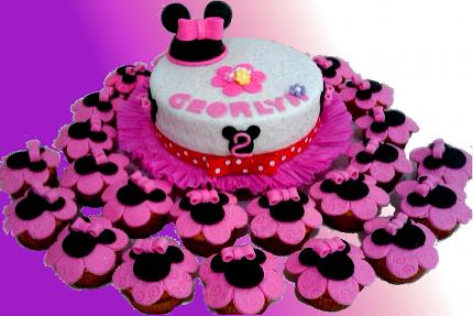 Tortas y Pasteles Bianca: Pastel Budines Minnie Mouse